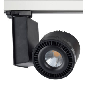 LED Τριφασικό Φωτιστικό Ράγας 33W V-TAC Μαύρο Περιστρεφόμενο Φυσικό Λευκό 4000K - 1234