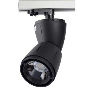 LED Τριφασικό Φωτιστικό Ράγας 45W V-TAC Μαύρο Περιστρεφόμενο Ψυχρό Λευκό 6000K - 1254