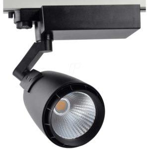 LED Φωτιστικό Ράγας 33W V-TAC Μαύρο Περιστρεφόμενο Ψυχρό Λευκό 6000K - 1232