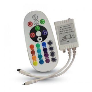 LED Controller RGB Με Χειριστήριο 72W V-TAC - 3625