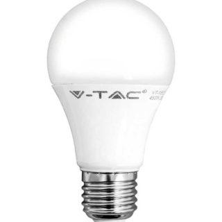 LED Λάμπα E27 A60 9W V-TAC Ψυχρό Λευκό 6400K - 7262