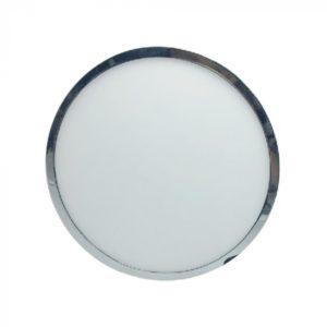 LED Πάνελ Στρογγυλό Επιφανειακό 6W V-TAC Χρώμιο Με Driver Ψυχρό Λευκό 6400K - 6360