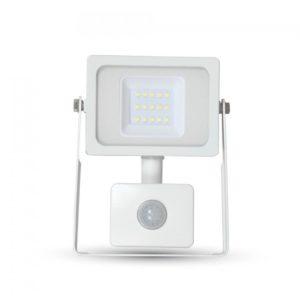 LED Προβολέας με Ανιχνευτή 10W V-TAC Λευκός IP44 SMD Θερμό Λευκό 3000K - 5786