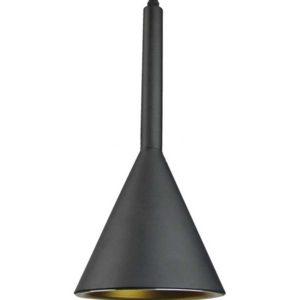 Κρεμαστό Φωτιστικό Οροφής Μονόφωτο E27 ø160 Αλουμίνιο Μαύρο V-TAC - 3869