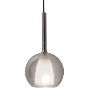 Κρεμαστό Φωτιστικό Οροφής Μονόφωτο E27 ø250 Γυαλί Γκρι-Λευκό V-TAC - 3876