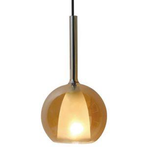 Κρεμαστό Φωτιστικό Οροφής Μονόφωτο E27 ø250 Γυαλί Λευκό-Amber Cover V-TAC - 3875
