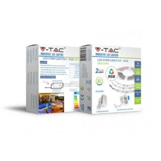 Σετ Εύκαμπτης Ταινίας LED 10W V-TAC Dimmable IP20 Πολύχρωμη RGB - 2544
