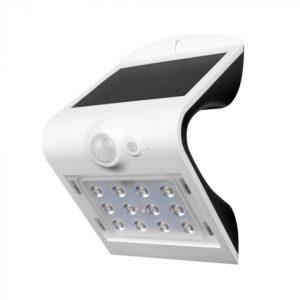 LED Ηλιακό Φωτιστικό 1.5W V-TAC με Αισθητήρα Αδιάβροχο IP65 Λευκό Πλαστικό Φυσικό Λευκό 4000K - 8276