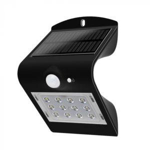 LED Ηλιακό Φωτιστικό 1.5W V-TAC με Αισθητήρα Αδιάβροχο IP65 Μαύρο Πλαστικό Φυσικό Λευκό 4000K - 8277