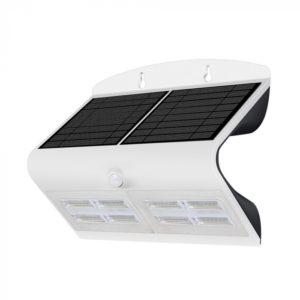 LED Ηλιακό Φωτιστικό 6.8W V-TAC με Αισθητήρα Αδιάβροχο IP65 Λευκό Πλαστικό Φυσικό Λευκό 4000K - 8278