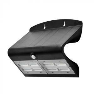 LED Ηλιακό Φωτιστικό 6.8W V-TAC με Αισθητήρα Αδιάβροχο IP65 Μαύρο Πλαστικό Φυσικό Λευκό 4000K - 8279