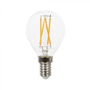 LED Λάμπα E14 P45 4W Filament V-TAC Θερμό Λευκό 2700K - 43001
