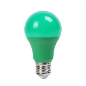 LED Λάμπα E27 A60 9W V-TAC Πράσινη - 7343