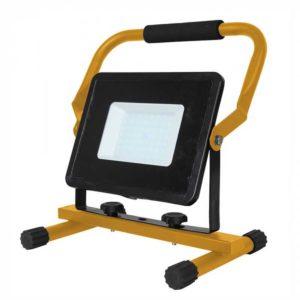 LED Φορητός Προβολέας με Βάση 50W V-TAC Μαύρος Αδιάβροχος IP65 SMD Φυσικό Λευκό 4000K - 5929
