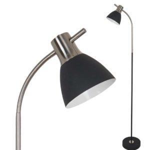 LED Φωτιστικό Δαπέδου E27 V-TAC Μαύρο Ματ Αλουμίνιο-Γυαλί - 3703