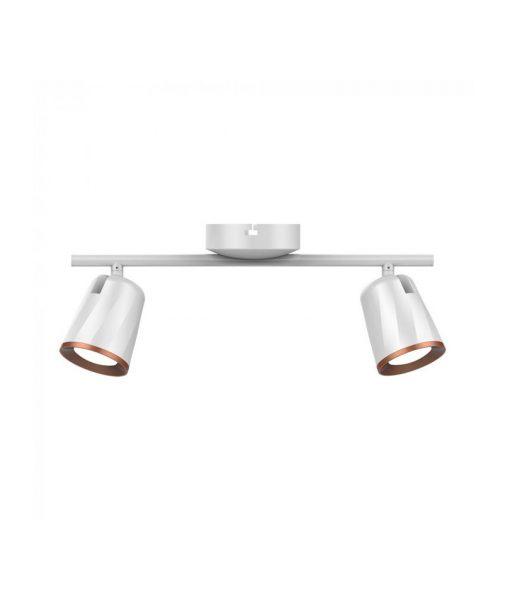 LED Φωτιστικό Οροφής Διπλό 12W V-TAC Λευκό Πλαστικό-Μέταλλο Θερμό Λευκό 3000K - 8254
