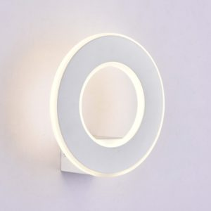 LED Φωτιστικό Τοίχου 9W V-TAC Λευκό Στρογγυλό SMD Θερμό Λευκό 3000Κ - 8225