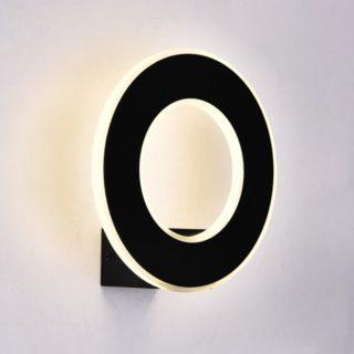 LED Φωτιστικό Τοίχου 9W V-TAC Μαύρο Στρογγυλό SMD Θερμό Λευκό 3000Κ - 8227