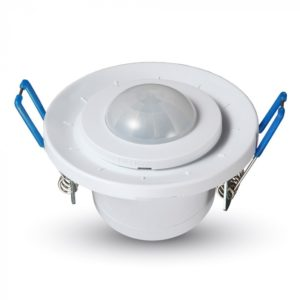 Ανιχνευτής Κίνησης Οροφής Υπερύθρων SPOT Ρυθμιζόμενος Χωνευτός Λευκός V-TAC - 5091