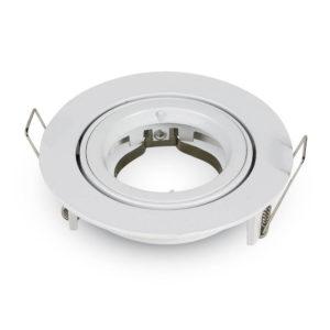 Βάση Σποτ GU10 - MR16 V-TAC Χωνευτή Στρογγυλή Λευκό - 3645