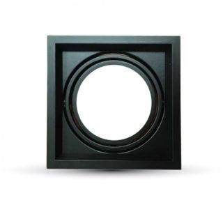 Χωνευτή Βάση 1xAR111 V-TAC Ρυθμιζόμενη Μαύρη Αλουμίνιο - 3581