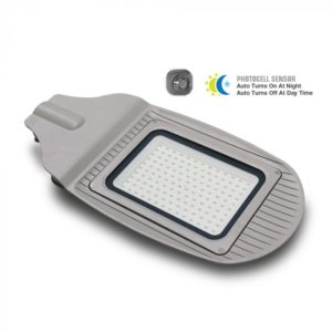 LED Φωτιστικό Δρόμου Με Αισθητήρα Μέρας-Νύχτας 30W V-TAC Γκρι Αδιάβροχο IP65 Φυσικό Λευκό 4000K - 5489