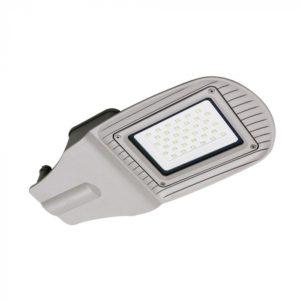 LED Φωτιστικό Δρόμου 30W V-TAC Γκρι Αδιάβροχο IP65 Φυσικό Λευκό 4000K - 5487