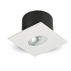LED SPOT Επιτοίχιο για Σκαλοπάτια 3W V-TAC Λευκό Τετράγωνο Χωνευτό