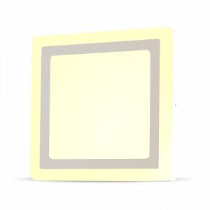 LED Πάνελ Τετράγωνο Επιφανειακό 8W (6W+2W) V-TAC 15 x 15cm SMD Φυσικό Λευκό 4000K - 4923