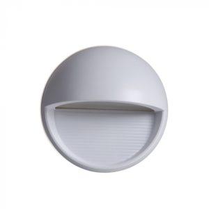 Επιτοίχιο Φωτιστικό LED για Σκαλοπάτια 3W V-TAC Γκρι Στρογγυλό Αδιάβροχο IP65 Θερμό Λευκό 3000K - 1406
