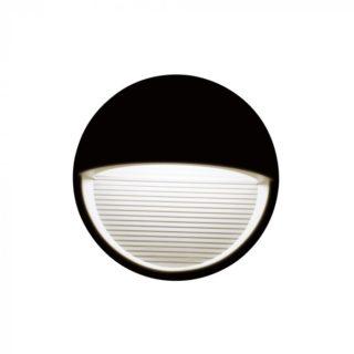 Επιτοίχιο Φωτιστικό LED για Σκαλοπάτια 3W V-TAC Μαύρο Στρογγυλό Αδιάβροχο IP65 Φυσικό Λευκό 4000K - 1405