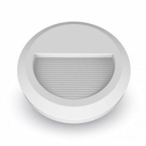 Επιτοίχιο Φωτιστικό LED για Σκαλοπάτια 2W V-TAC Λευκό Στρογγυλό Αδιάβροχο IP65 Θερμό Λευκό 3000K - 1315