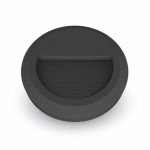 Επιτοίχιο Φωτιστικό LED για Σκαλοπάτια 2W V-TAC Μαύρο Στρογγυλό Αδιάβροχο IP65 Θερμό Λευκό 3000K - 1317