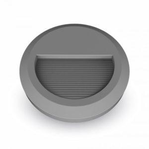 Επιτοίχιο Φωτιστικό LED για Σκαλοπάτια 2W V-TAC Γκρι Στρογγυλό Αδιάβροχο IP65 Θερμό Λευκό 3000K - 1319