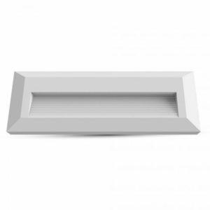 Επιτοίχιο Φωτιστικό LED για Σκαλοπάτια 3W V-TAC Λευκό Ορθογώνιο Αδιάβροχο IP65 Θερμό Λευκό 3000K - 1327