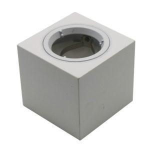 Γύψινη Βάση GU10 - MR16 V-TAC Εξωτερική Τετράγωνη Λευκή - 3666