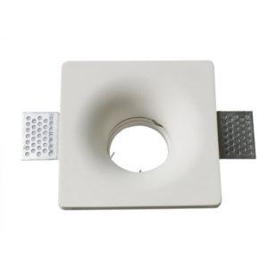Γύψινη Βάση GU10 - MR16 V-TAC Χωνευτή Τετράγωνη Λευκή - 3674 4ce9f5f6c2f