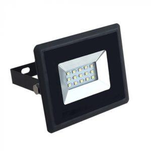 LED Προβολέας 10W V-TAC Μαύρος Αδιάβροχος IP65 SMD Θερμό Λευκό 3000K - 5940