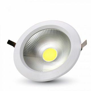 LED Φωτιστικό Οροφής COB High Lumen 10W V-TAC Στρογγυλό Χωνευτό Φυσικό Λευκό 4500K - 1271