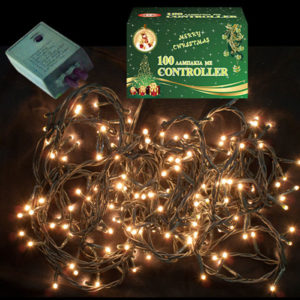 100 LED Χριστουγεννιάτικα Λαμπάκια ΛΕΥΚΑ Εσωτερικού Χώρου IP20 8 Προγραμμάτων 220-240V 93740