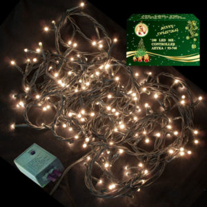 140 LED Χριστουγεννιάτικα Λαμπάκια ΛΕΥΚΑ Εσωτερικού Χώρου IP20 8 Προγραμμάτων 220-240V 93741