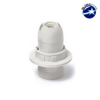 Σετ Ντουί E14 με Ροδέλα Πλαστικό Λευκό GLOBOSTAR - 90071