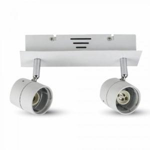 Φωτιστικό - Βάση Σποτ 2xGU10 V-TAC Οροφής - Τοίχου Λευκή - 3618