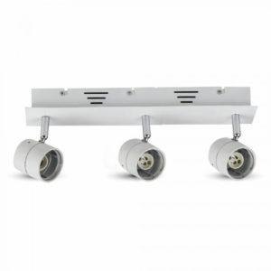 Φωτιστικό - Βάση Σποτ 3xGU10 V-TAC Οροφής - Τοίχου Λευκή - 3619