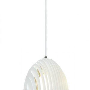 Κρεμαστό Φωτιστικό Οροφής Μονόφωτο E27 Cone Prism ø250 Μεταλλικό Λευκό V-TAC - 3952