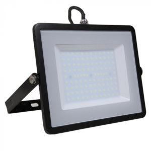 LED Προβολέας 100W V-TAC Samsung Chip Μαύρος Αδιάβροχος IP65 Θερμό Λευκό 3000K - 412