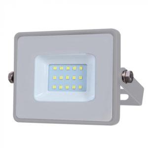 LED Προβολέας 10W V-TAC Samsung Chip Γκρι Αδιάβροχος IP65 Ψυχρό Λευκό 6400K - 432