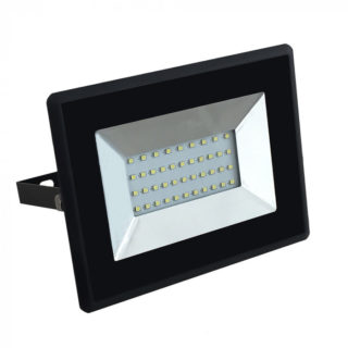 LED Προβολέας 30W V-TAC Μαύρος Αδιάβροχος IP65 SMD Ψυχρό Λευκό 6500K - 5954
