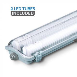 LED Φωτιστικό Τύπου Φθορίου 2x22W V-TAC 150cm Αδιάβροχο IP65 Ψυχρό Λευκό 6400K - 6400