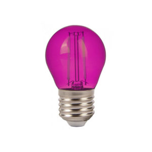 LED Λάμπα E27 G45 2W Filament V-TAC Samsung Chip Ροζ - 7410